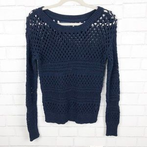American Eagle Outfitters Knit Navy Blue Size S